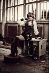 Claire Steampunk III by RemusSirion