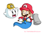 .:PC: Ghost Mario and Boo:. by ThePinkMarioPrincess