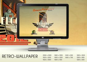 wallpaper retro by jesss33