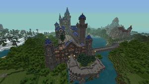 Neuschwanstein in Minecraft by Arminius1871