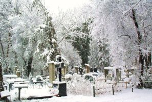 Winter cemetery by akonit