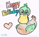Happy Birthday Duck by MeMiMouse