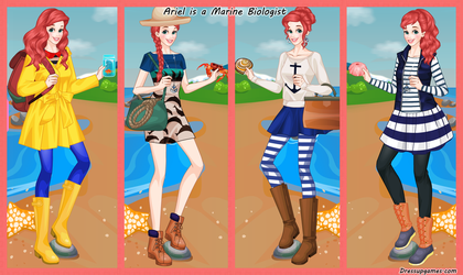 Ariel Marine Biologist Dress Up Game by DressUpGamescom