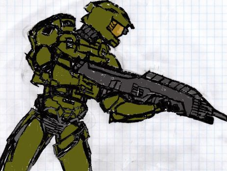 Master Chief by blackwolf007