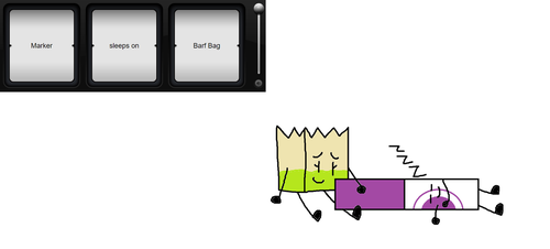 BFB Slot Machine #45 (S2) Marker sleep on Barf Bag by cooljohn721