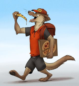 Pizza Thief by Temiree