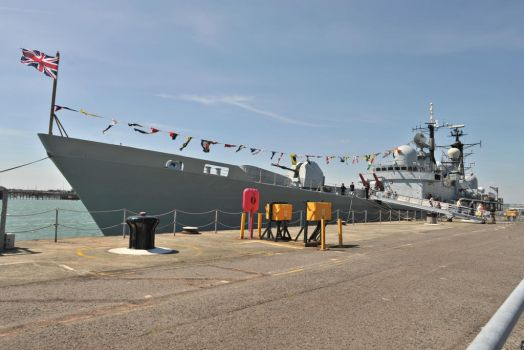HMS Edinborough bowing out in style by in-my-viewfinder