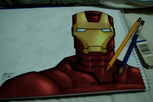 My Iron Man Colored by rgh-artmix707