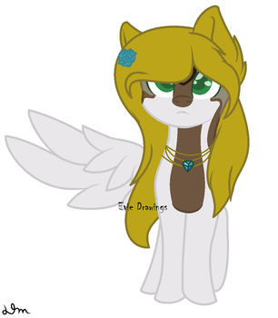 Ookami Wolfdraws-Mlp OC by MissEvieFrye