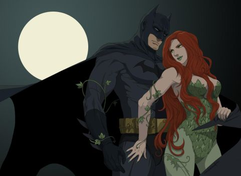 Batman and Poison Ivy by doubleleaf