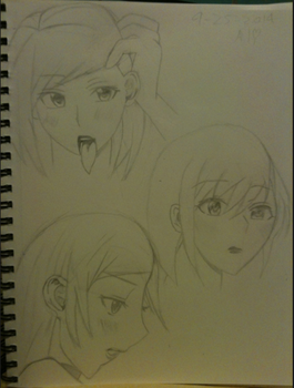 Hina's faces by Luna98980