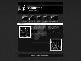 Black Portfolio template by ggeorgiev92