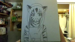 Fab Tiger Neko Girl by iamanimegirl12