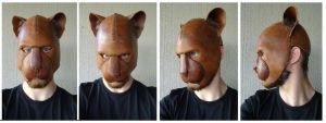 Panther mask raw by Stallnig