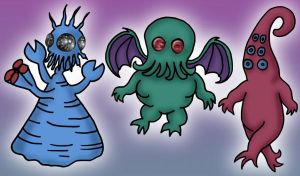 Chibi Horrors by eugeal