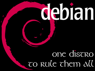 Debian - One Distro - Black by crazycomputers