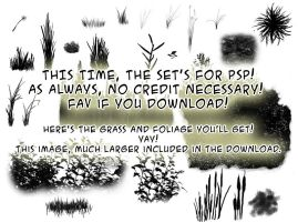 Foliage brushes-PSP+image pack by calthyechild