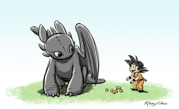 How to train your dragon ball by kenjiono