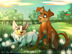 Bandit And Pepper by MittensTheNoble