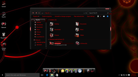 Alienred theme for Win10 by hamed1987s