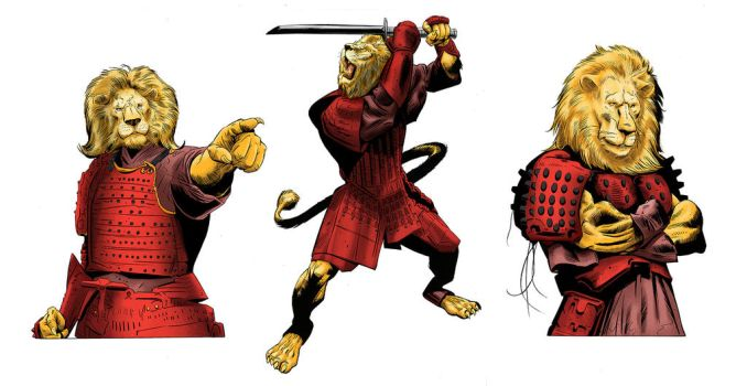 Last of the Samurai Lions by PlanetKojo