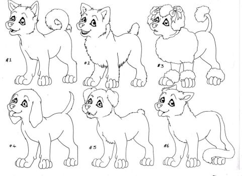 Puppy adopt lineart by HeavenlyOdyssey