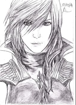 Lightning Farron ( Final Fantasy XIII ) by Robert-Marten