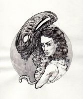Lady Alien: Ripley (and Jones) Tribute by DandyAngelicaVannini