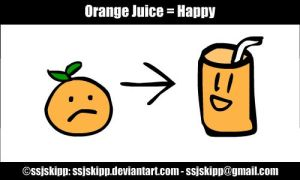 Orange Juice Happy by ssjskipp
