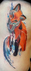 Geo Color Block Fox by seanspoison