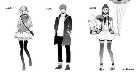 Love Triangle- Characters by K-wuet