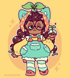 Pon the little gardening doll! by plushpon