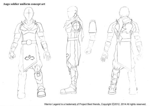 Warrior Legend Augo soilder concept art by WarriorLegendManga