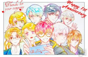 [Mystic Messenger] HAPPY 1ST ANNIVERSARY by Hini-Parlous