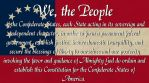 Preamble Constitution of the CSA by dragonpyper