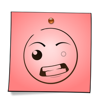 Post-It Smiley: Mad by mondspeer