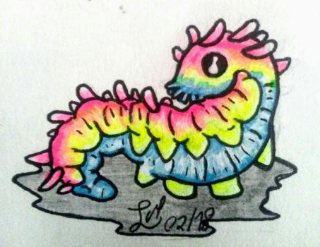 Pansexual Pride Worm by Aspiring-Awesomeness