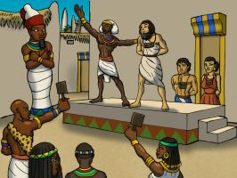 Egyptian Slave Auction by TyrannoNinja