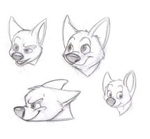 Bolt Sketches by Blue-Lobo
