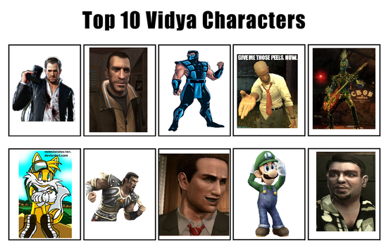 My top 10 favorite video game characters by deathfromabov