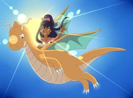[SpeenPaint]Iris and Dragonite - Come Back by Nathy-Marisson