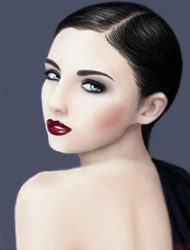 red lips by cit-cat-kate