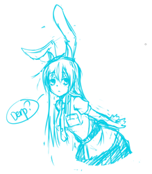 Touhou - Reisen by on-a-leash