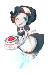 Robomaid gives you cake by NoA85