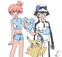 New Journeys - Ash and Misty [Pokemon] by SidselC