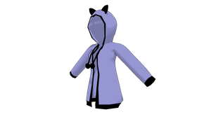 MMD Kitty Hoodie by mbarnesMMD