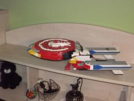 LEGO Not Quite Galaxy Starship View 1 by Tzoli