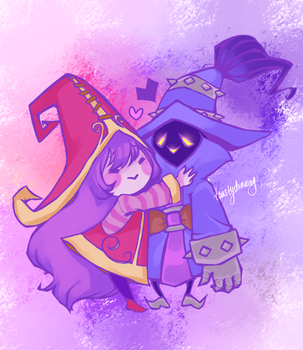 Purple lovers by toastydrawing