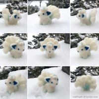 Needle Felted Alolan Vulpix by Ornithogale