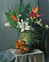 Lillies and Exotics by cscoginsartist
